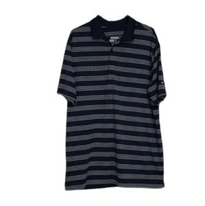 Nike Golf Dri Fit Navy Stripe Polo Tshirt